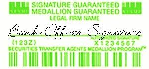 Medallion Signature Guarantee Stamp